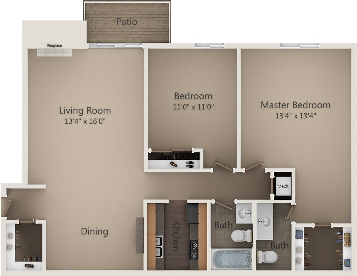 The Pin Oak Floor Plan 6