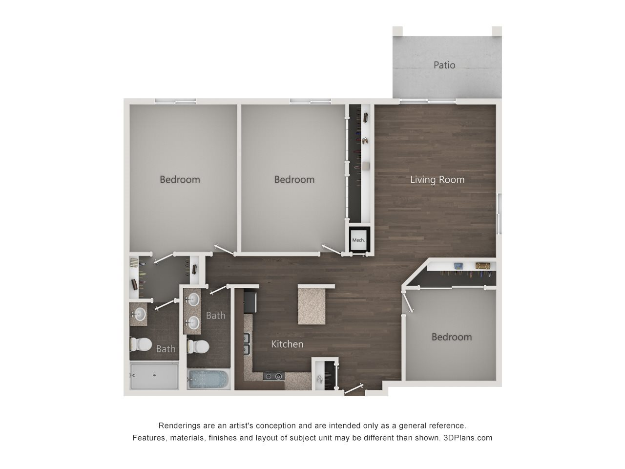 Greens - 3 Bedroom Floor Plan 7