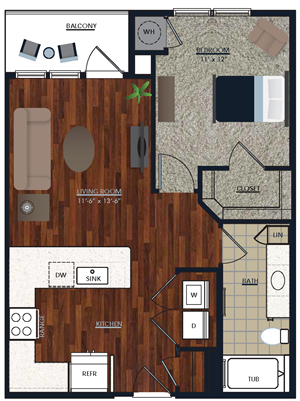 Centric LoHi A1 Floor Plan