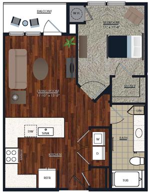 Centric LoHi A2 Floor Plan