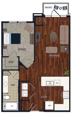 Centric LoHi A2b Floor Plan