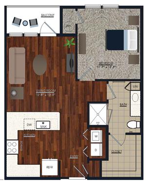 Centric LoHi A3 Floor Plan