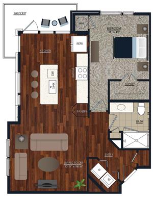 Centric LoHi A4 Floor Plan