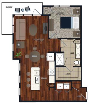 Centric LoHi A5 Floor Plan