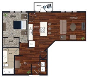 Centric LoHi A6 Floor Plan
