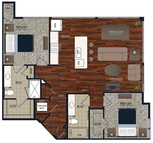 Centric LoHi B1 Floor Plan