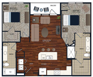 Centric LoHi B2 Floor Plan