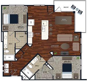 Centric LoHi B3 Floor Plan