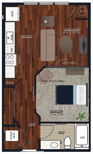 Centric LoHi E1 Floor Plan