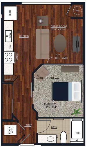 Centric LoHi E1b Floor Plan
