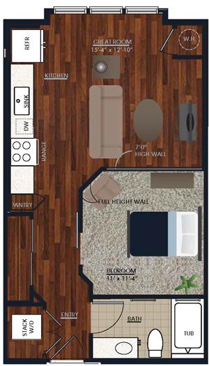 Centric LoHi E1c Floor Plan