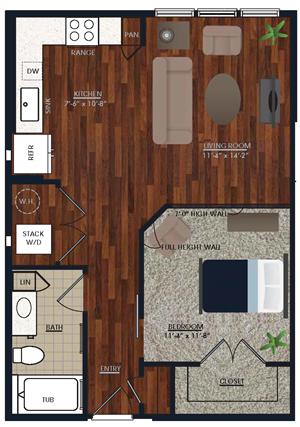 Centric LoHi E2 Floor Plan