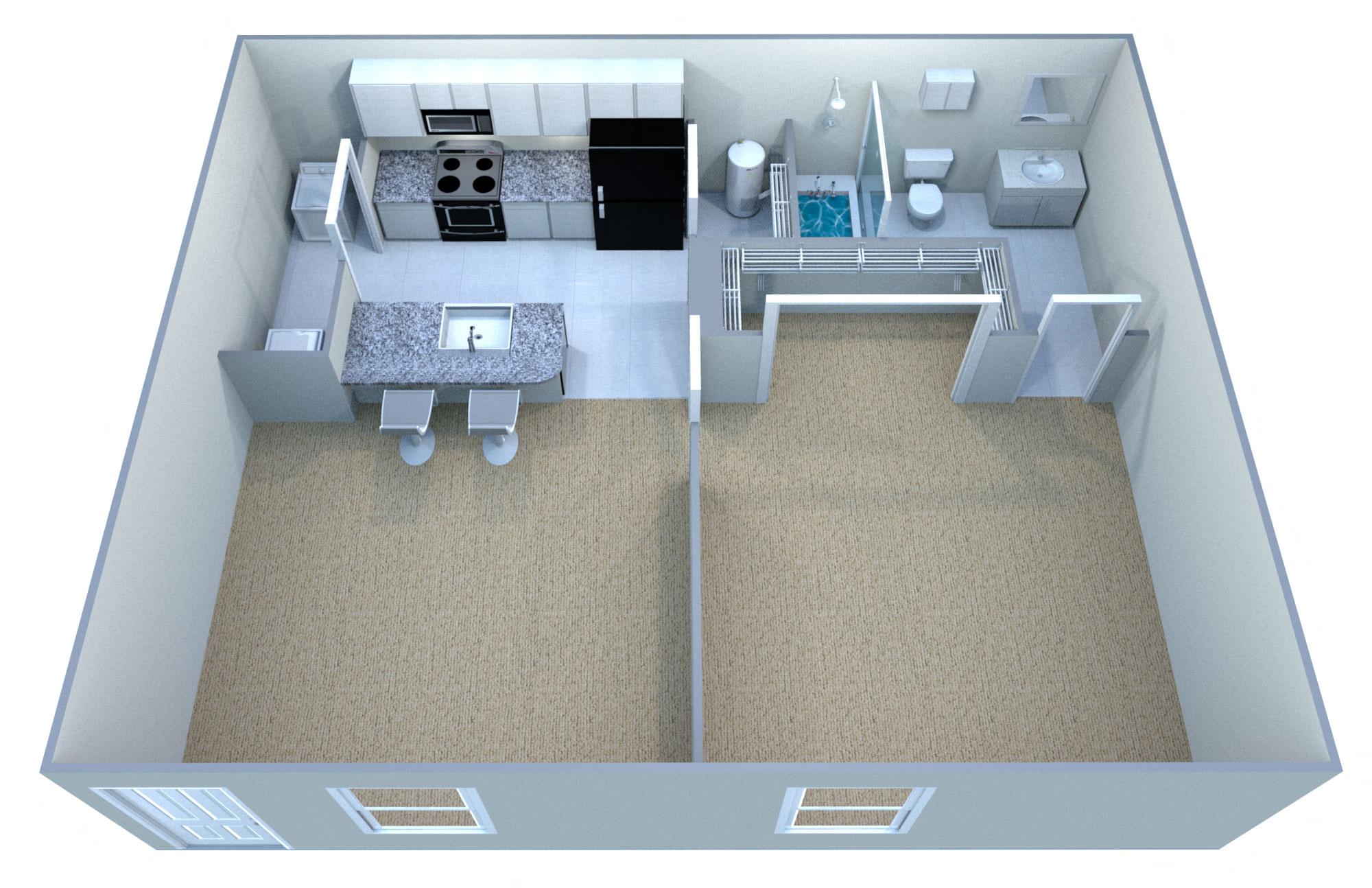 Suite A Floorplan. Floor PlanClassic Deluxe II, Bed/Bath1 ...