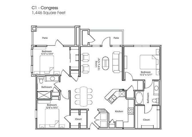 C1-Congress Floor Plan 8