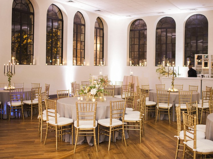 Ballroom Wedding Reception at Thomas Jefferson Tower apartments in Birmingham, AL 35203