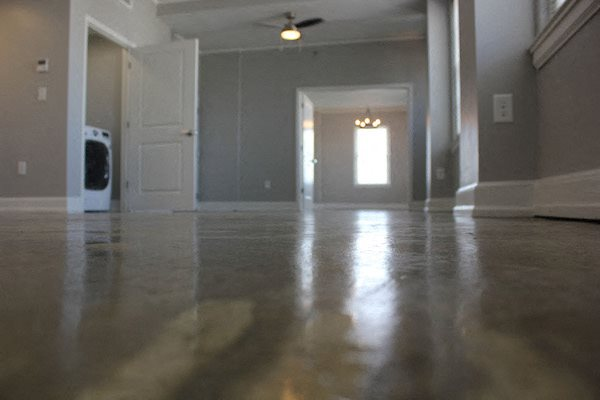 Polished Concrete floors in studio, one, and two bedroom apartments at Thomas Jefferson Tower in Birmingham, AL 35203