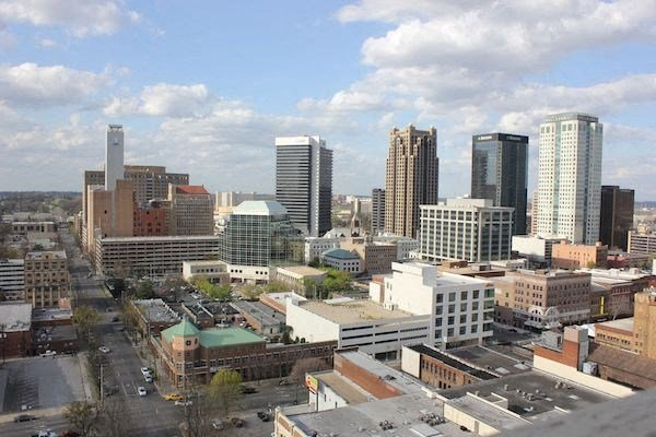 view of Birmingham from atop TJ Tower