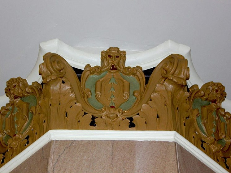 Restored molding at Thomas Jefferson Tower apartments in Birmingham, AL 35203