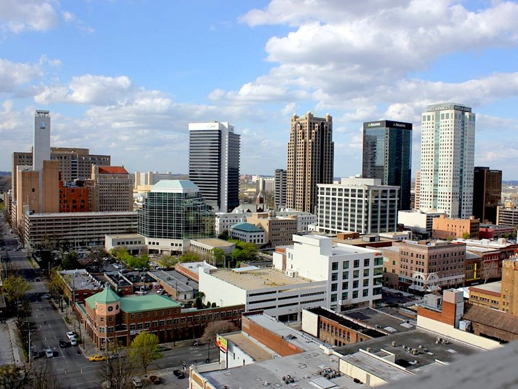 View of Birmingham, AL 35203 from the top of Thomas Jefferson Tower