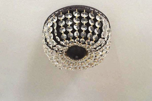 elegant crystal lighting fixture