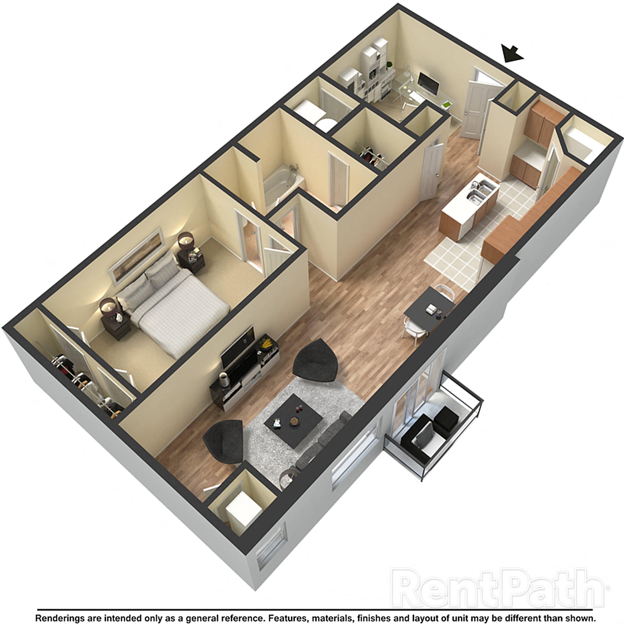 1x1 + Floor Plan 3