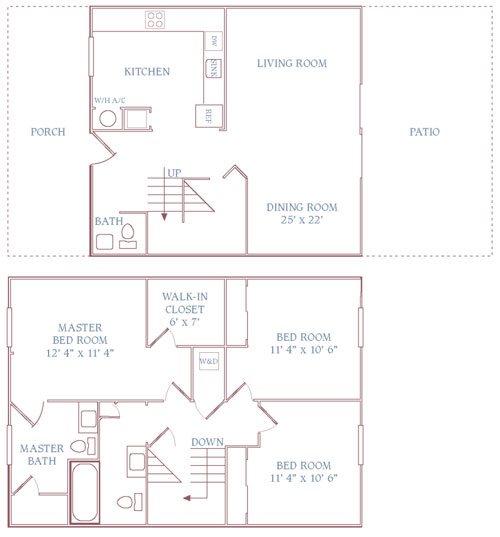 Floor Plans Of The Jamestown Apartments In Newport News, VA