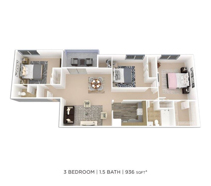 3 Bedroom 1.5 Bath