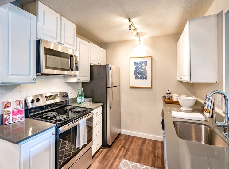 81 Fifty at West Hills Apartment Homes Portland Oregon Kitchen with Stainless Steel Appliances