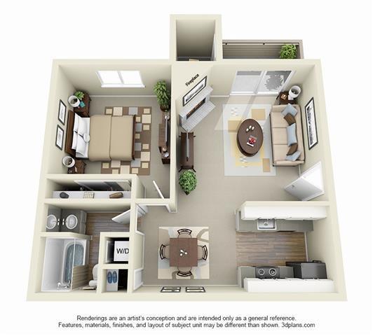 81 Fifty at West Hills Apartment Homes Portland Oregon - 1 Bedroom 1 Bath Apartment