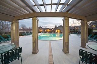 Two grand resort-style swimming pools with large aqua decks at 150 Summit, Birmingham, AL,35243