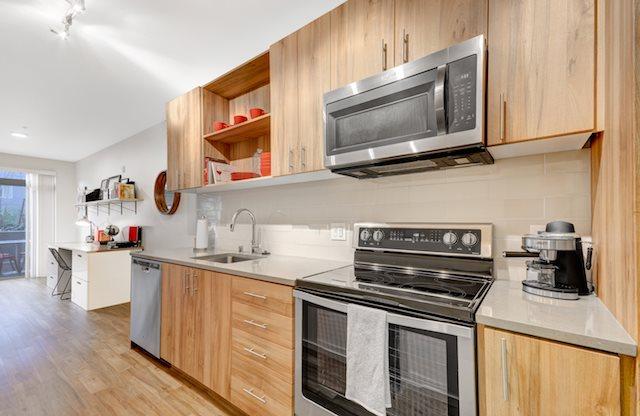 Plenty of cabinet space in this open 1 bedroom home.