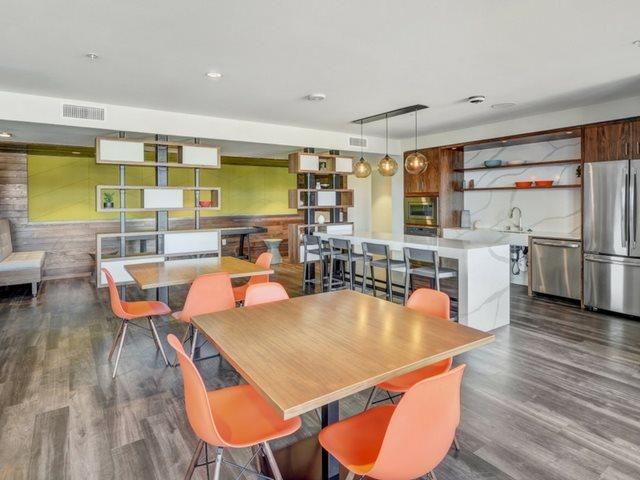 Kitchen and lounge  at The Whittaker, Washington 98116