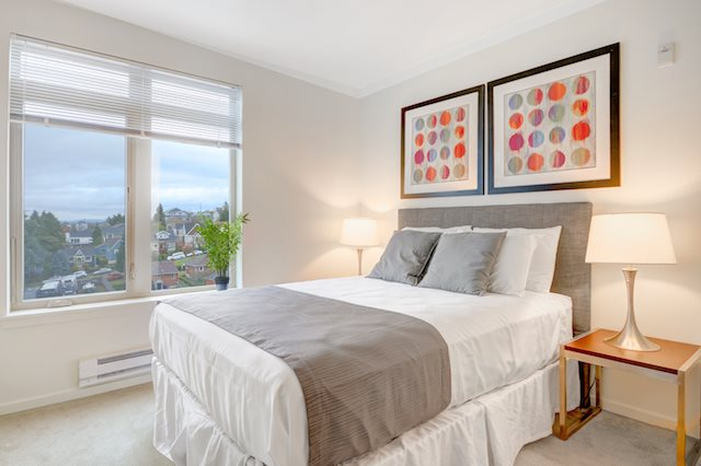 The Whittaker, Seattle, WA,98116 has second bedrooms with walk-in closets in select homes.