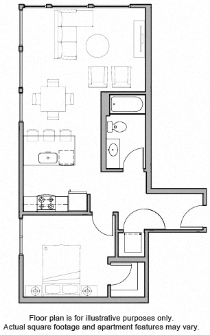 Floorplan at The Whittaker, Seattle, Washington