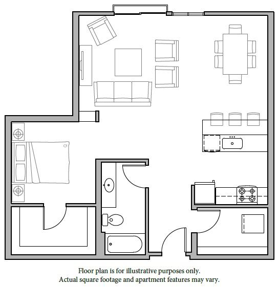 Floorplan at The Whittaker, Washington 98116