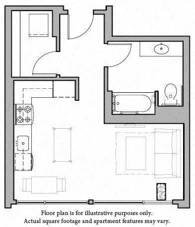 Floorplan at The Whittaker, Seattle, WA 98116
