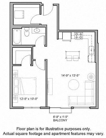 Floorplan at The Whittaker, Seattle 98116