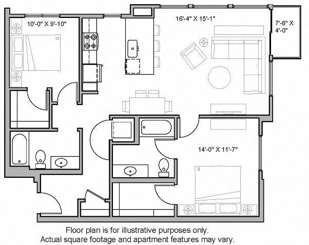 Floorplan at The Whittaker, Seattle, Washington