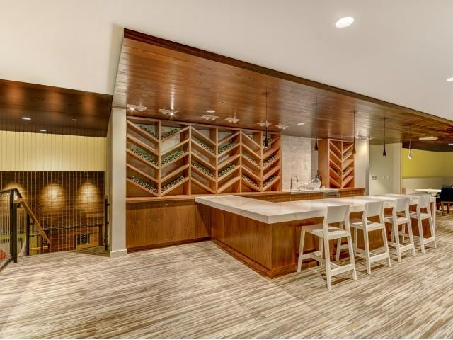 Wine club room for resident events and private parties at The Whittaker & The Whittaker | Luxury Apartments for Rent in West Seattle | Photos