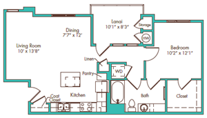 One Bedroom - Plan AA