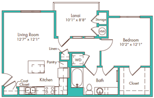 One Bedroom - Plan A