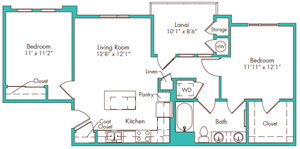 Two Bedroom - Plan E