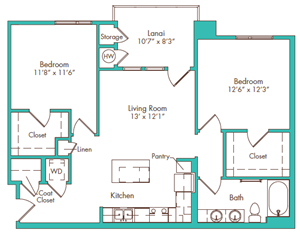 Two Bedroom - Plan F