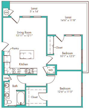 Two Bedroom - Plan G