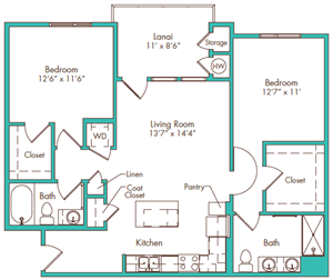 Two Bedroom - Plan A