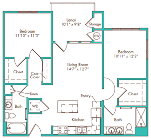 Two Bedroom - Plan B