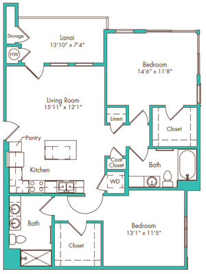 Two Bedroom - Plan C