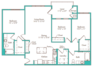 Three Bedroom - Plan A