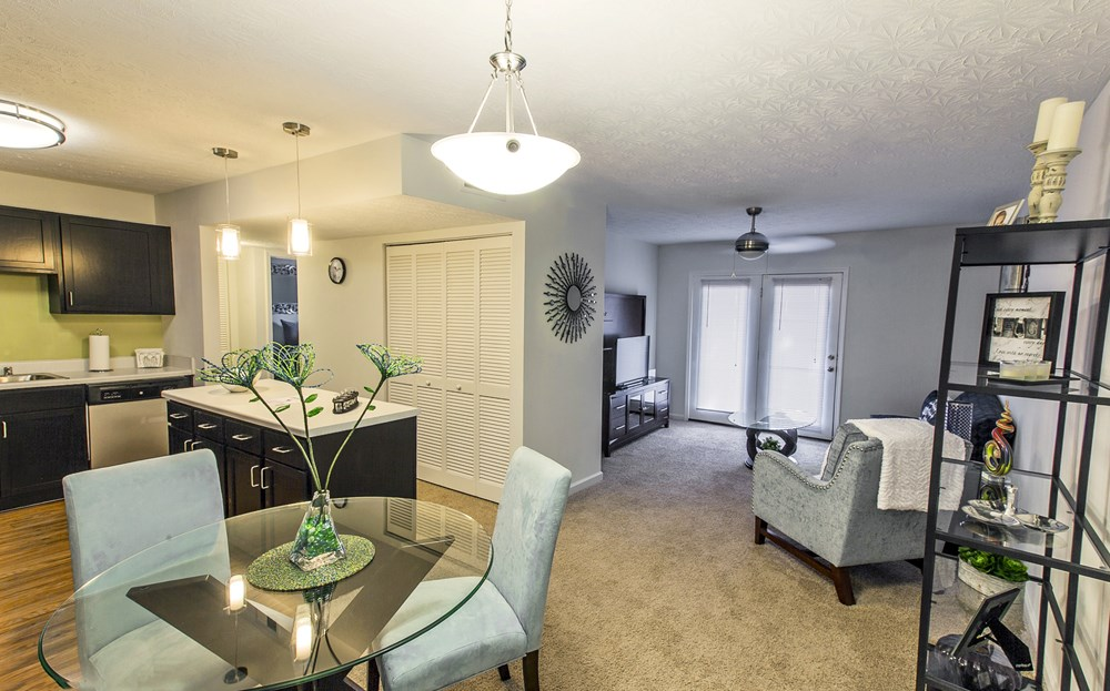 Open floor plans at 300 at the Circle Apartments in Lexington, KY