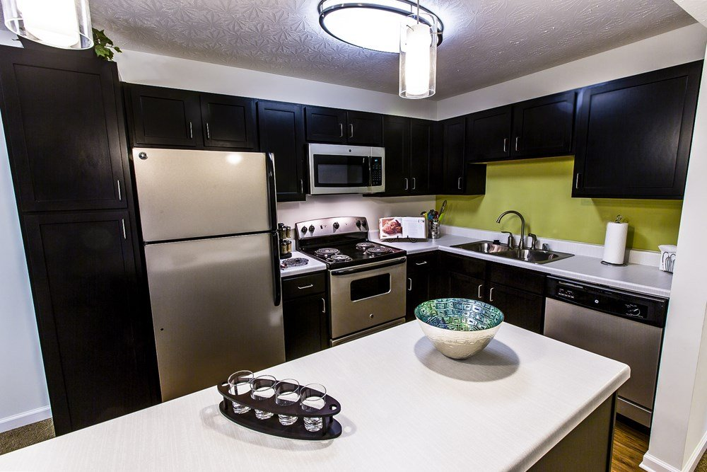 Stainless steel appliances at 300 at the Circle Apartments in Lexington, KY